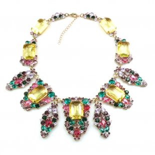 Carmen Necklace ~ Color Mix Tones with Yellow Jonquil