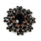 Aztec Sun Brooch ~ Black