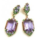 Candy Puffs Earrings Pierced ~ Violet ~ Big Octagons