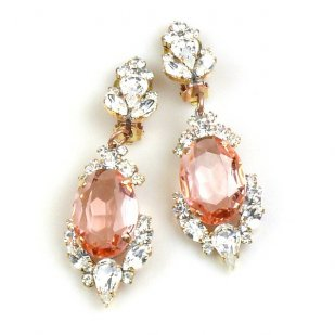 Mythique Clips-on Earrings ~ Crystal Pink