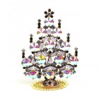 Rivoli Xmas Stand-up Tree 9cm ~ AB and Purple