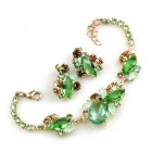 Lite Fountain Bracelet and Earrings ~ Green
