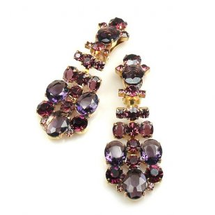 Dione Earrings Clips ~ Purple