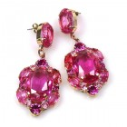 Ballade Earrings Pierced ~ Fuchsia