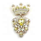 Order Brooch ~ Crown ~ Yellow Jonquil