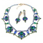 Roxanne Lite Set with Earrings ~ Blue Emerald