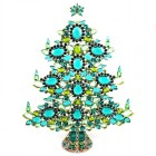 13 Inches Giant Xmas Tree with Ovals ~ Emerald Green