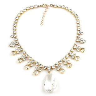 Emikos Necklace ~ Clear Crystal