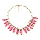 Indian Summer Necklace ~ White with Hot Pink