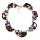 Fountain Necklace ~ Multicolor with Purple