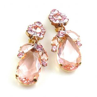 Fountain Clips-on Earrings ~ Pink