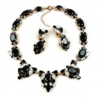 Mythique Set Lite ~ Necklace and Earrings ~ Black Clear