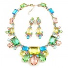 Fairy Jive Necklace Set with Earrings ~ Multicolor