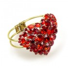 Red Heart ~ Clamper Bracelet