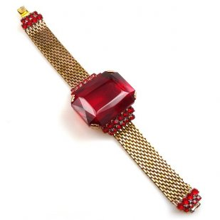 Faraon Bracelet ~ Ruby Red