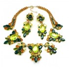 Iris Grande Necklace Set ~ Citrine Emerald Yellow