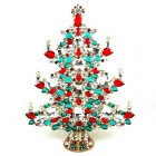 13 Inches Giant Xmas Tree with Octagons ~ Emerald Clear Red