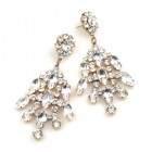 Enchanted Rhinestone Earrings Pierced ~ Clear Crystal