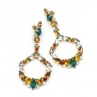 Paradise Valley Earrings Pierced ~ Topaz Emerald Clear