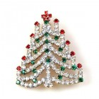 Chain Xmas Tree Brooch #11