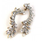 Bridal Navette Earings ~ Clear Crystal