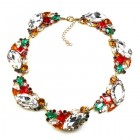 Brilliant Dew Necklace ~ Clear Crystal and Multicolor