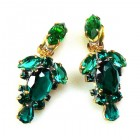 Raquel Earrings Clips ~ Emerald