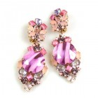 Muse Earrings with Clips ~ Extra Pink