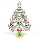 Xmas Tree Standing Decoration 2020 #02 ~ Green Pink Clear