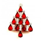 Xmas Tree Brooch #08 ~ Red