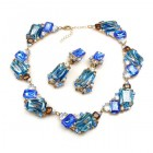 Pearlesque Necklace and Earrings ~ Blue Flood