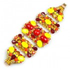 Wild Orange ~ Bracelet ~ Opaque Yellow and Red
