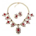 Attraction Necklace Set ~ Clear Crystal with Red