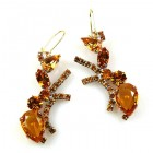 Ants Earrings Pierced ~ Topaz