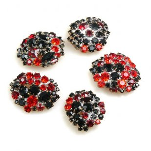 Lot of 5 pc. Rhinestone Buttons ~ #01