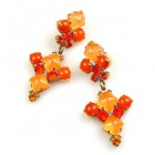 Bubbles Earrings for Pierced Ears ~ Neon Orange