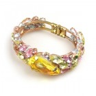 Fountain Clamper Bracelet ~ Yellow Pink