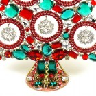 13 Inches Giant Xmas Tree with Snowflakes ~ Red Emerald Clear