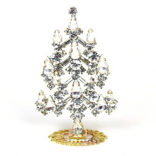 Xmas Tree Standing Decoration 2019 #05 Clear Crystal
