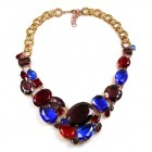 Razzle Dazzle Necklace ~ Purple Blue Red