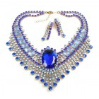 Gods Eye Necklace with Earrings ~ Sapphire Blue