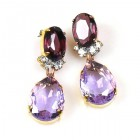 Effervescence Earrings for Pierced Ears ~ Violet Purple