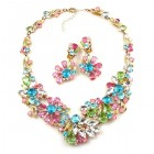 Power of Flowers ~ Necklace Set ~ Pastel Colors