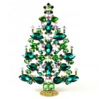 2020 Xmas Tree Decoration 21cm Navettes ~ Emerald Green