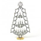 Xmas Tree Stand-up with Candles 20cm ~ Clear Crystal