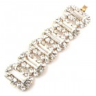 Ffion Baguette Bracelet ~ Clear Crystal