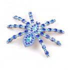 Tarantula Brooch ~ Blue with Aqua