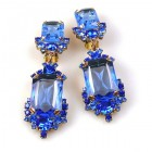 Pearlesque Earrings Clips ~ Blue Flood