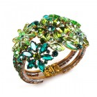 True Love ~ Clamper Bracelet ~ Green Tones