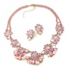 Parisienne Bloom Lite Set with Earrings ~ Pink Pleasure